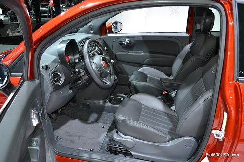 Fiat 500 Cattiva interior