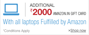 Buy any Laptop from Amazon and get Rs 2000 Amazon gift voucher + 10% cashback
