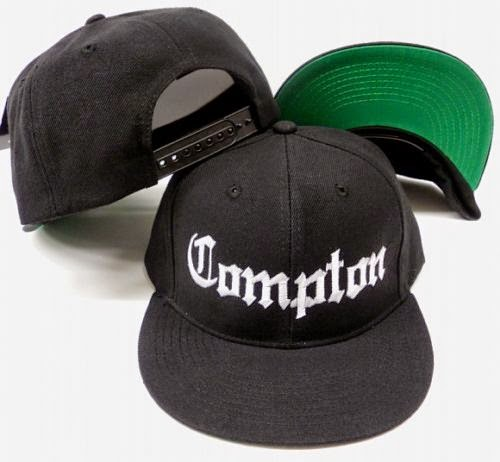 New Black Compton Flat Bill Snap Back Baseball Cap Hat, eazy e
