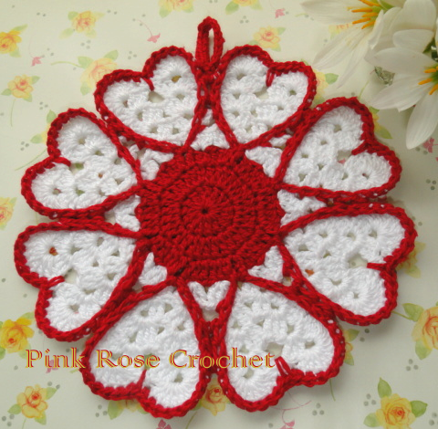 Sugar and Cream Potholder - Free Crochet Potholder Pattern