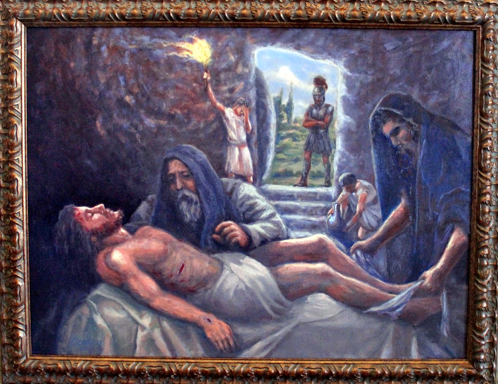 blessed to be a blessing stations of the cross jesus is laid in