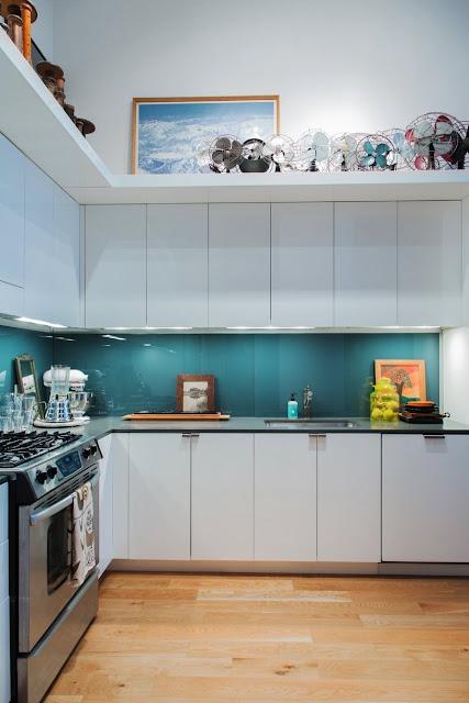 Industrial-Ethno-Design in Jersey - leichtes Einrichten der Küche in Vintage vom Flohmarkt