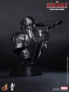 Hot Toys Iron Man 3War Machine Bust. They will be available in June for . (hot toys iron man war machine bust )