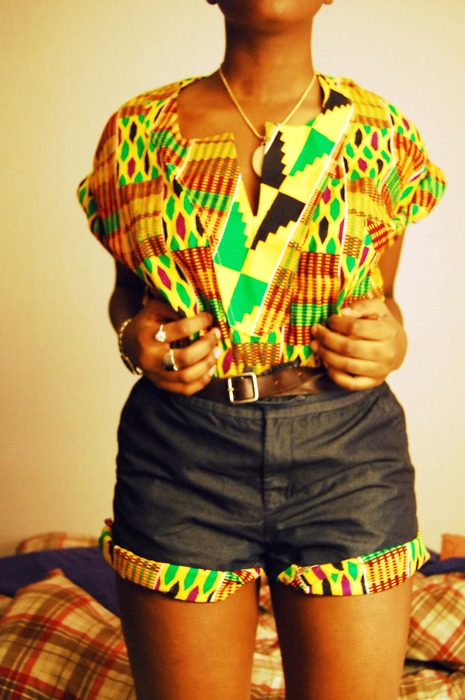 twist to the traditional kente cloth