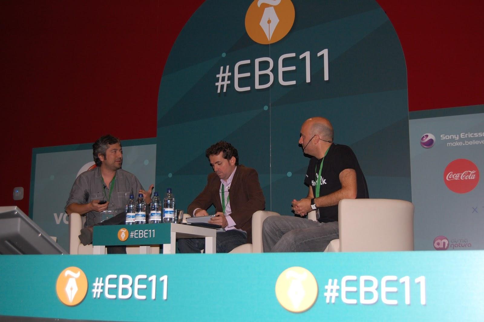 @jagelado, @ollerista y @lontzo durante el debate. Foto de Carmen Jara Delgado