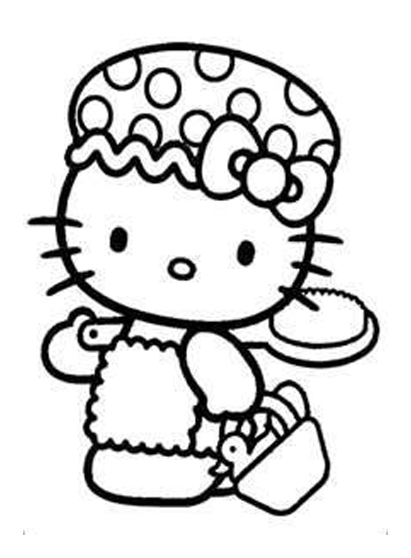 pretty hello kitty coloring pages - photo#26