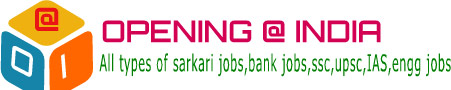 Govenment jobs in India - Opening@India