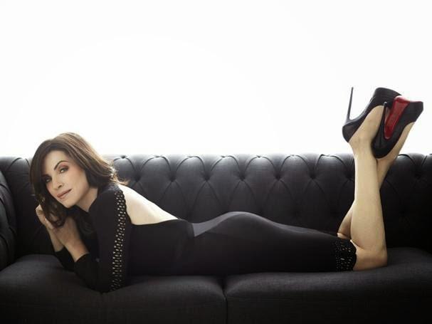 Julianna Margulies Hot legs in Louboutin pumps