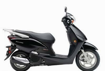 Honda Elite Black Scooters Images