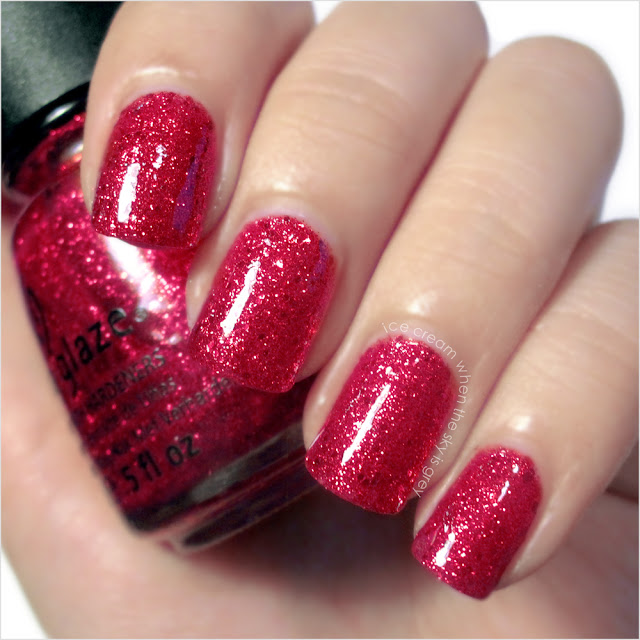 China Glaze Ring In The Red Nail Polish Let It Snow! Holiday 2011 Collection Swatch & Review