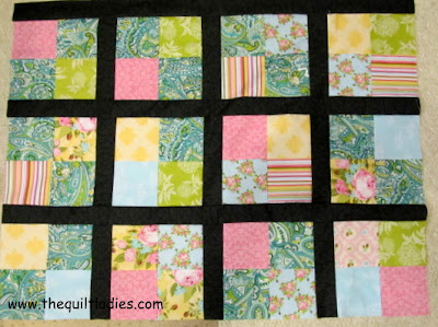 how to make a 4-patch quilt top tutorial