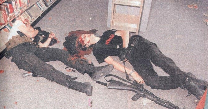 Columbine Victims Bodies Columbine shooters as they lay