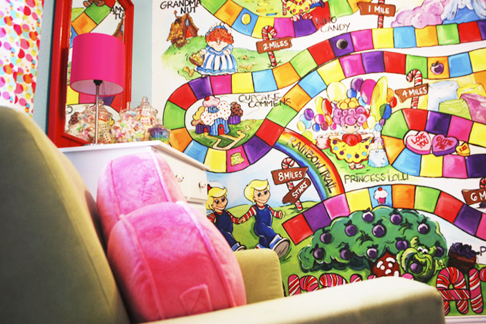 Fabulous k home tour poppie 39 s candy land nursery for Candy themed bedroom ideas