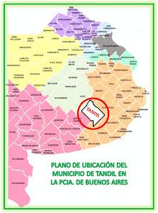 UBICACION DE TANDIL