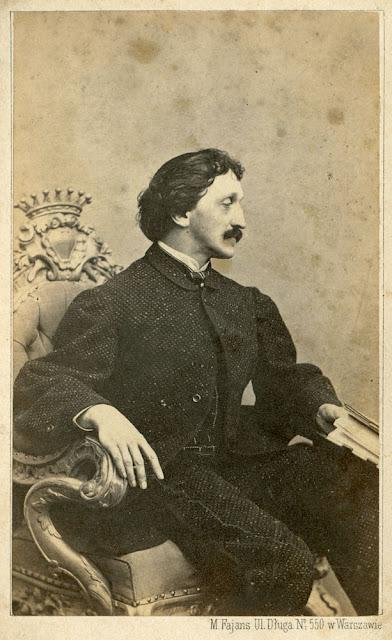 Gustaw hr. Małachowski (1828 - 1904), fot. Maxymilian Fajans w Warszawie. Zdjęcie z kolekcji Marcina Brzezińskiego