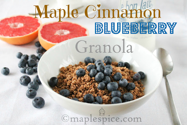 Maple Cinnamon Blueberry Granola