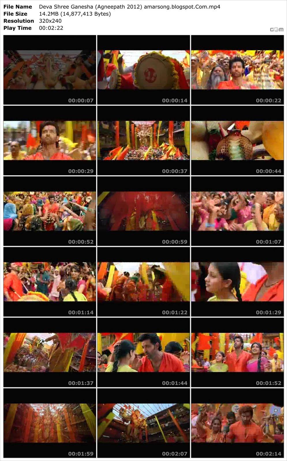 Deva Shree Ganesha - Agneepath (2012) Video Download MP4 Format