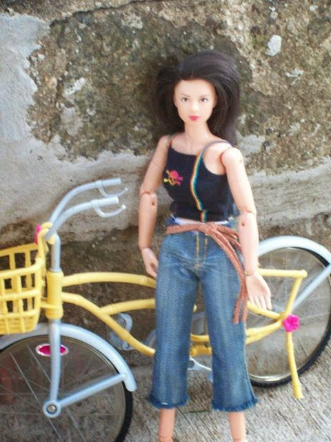 Aoshima/Skynet Girls Mission Mai figure, Mattel bicycle