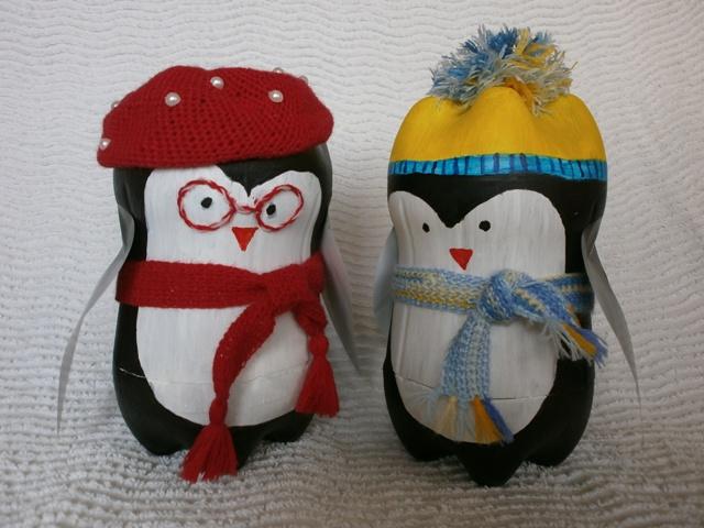 Пингвин из бутылок поделка 57