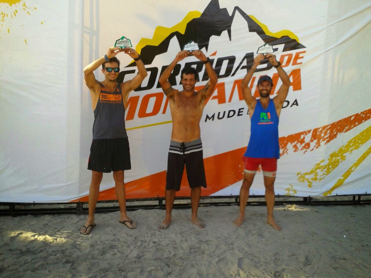 Podio do Endurance 50 (categoria 0 a 39 anos)