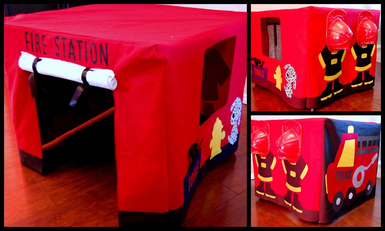 & Utah County Mom: Fire Station Card Table Tent