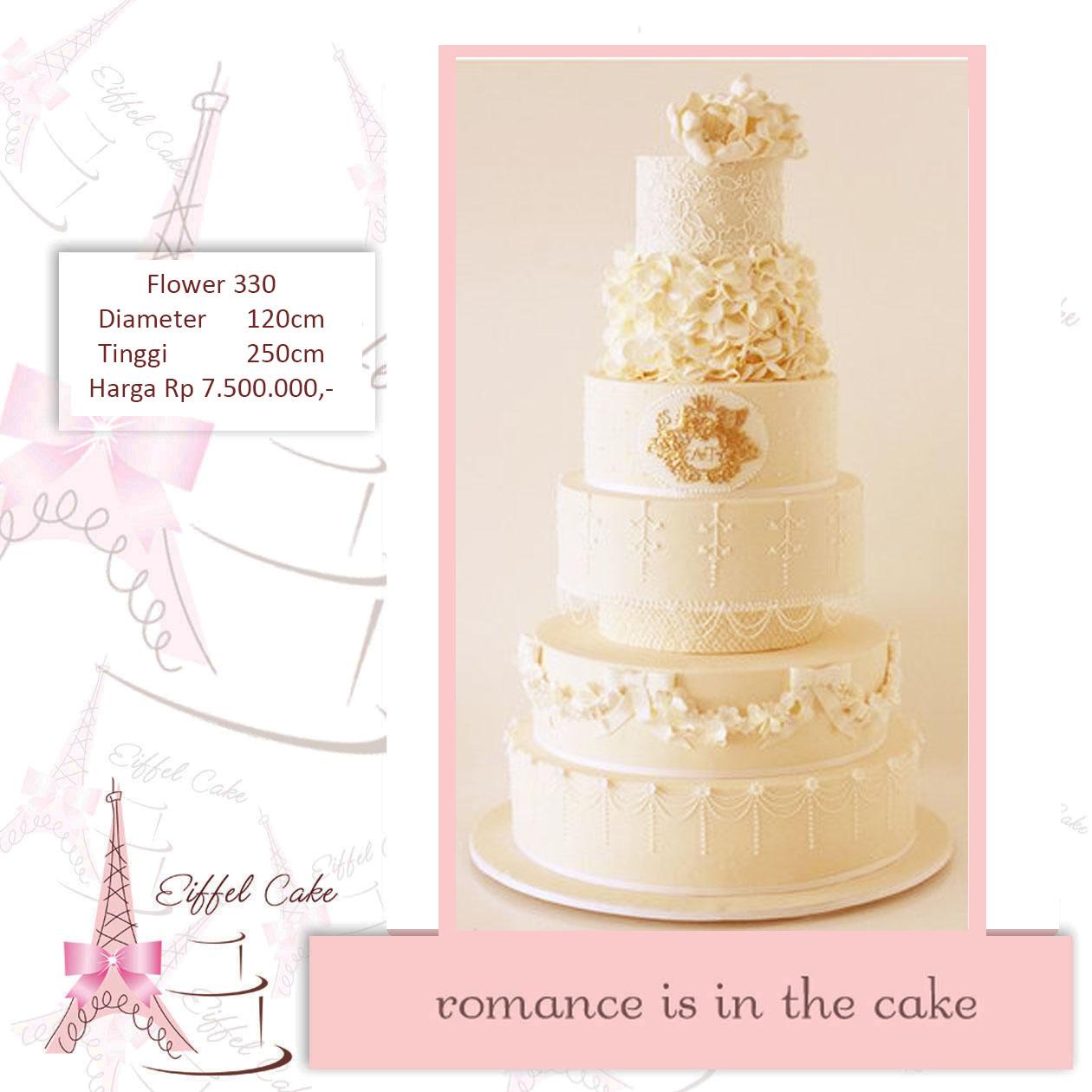 Heidy Heici Sakachan Wedding Cake Eiffel Cake - Harga Dummy Wedding Cake