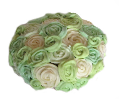 handmade, cake,icing,roses,green, colour, birthday