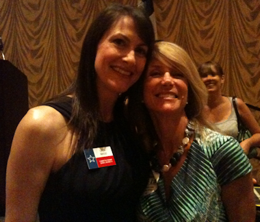 Linda Magid (left) with Sen. Davis (D-10)