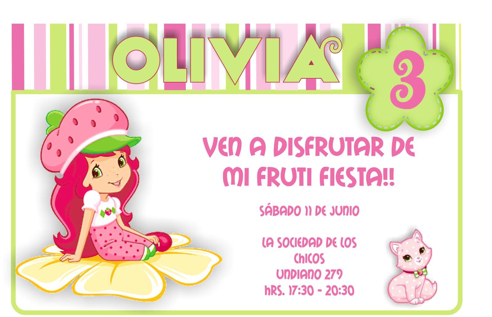 Pin Invitaciones Frutillita Para Imprimir Gratis Fotos Ajilbabcom ...