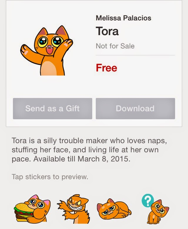 Tora animation stickers