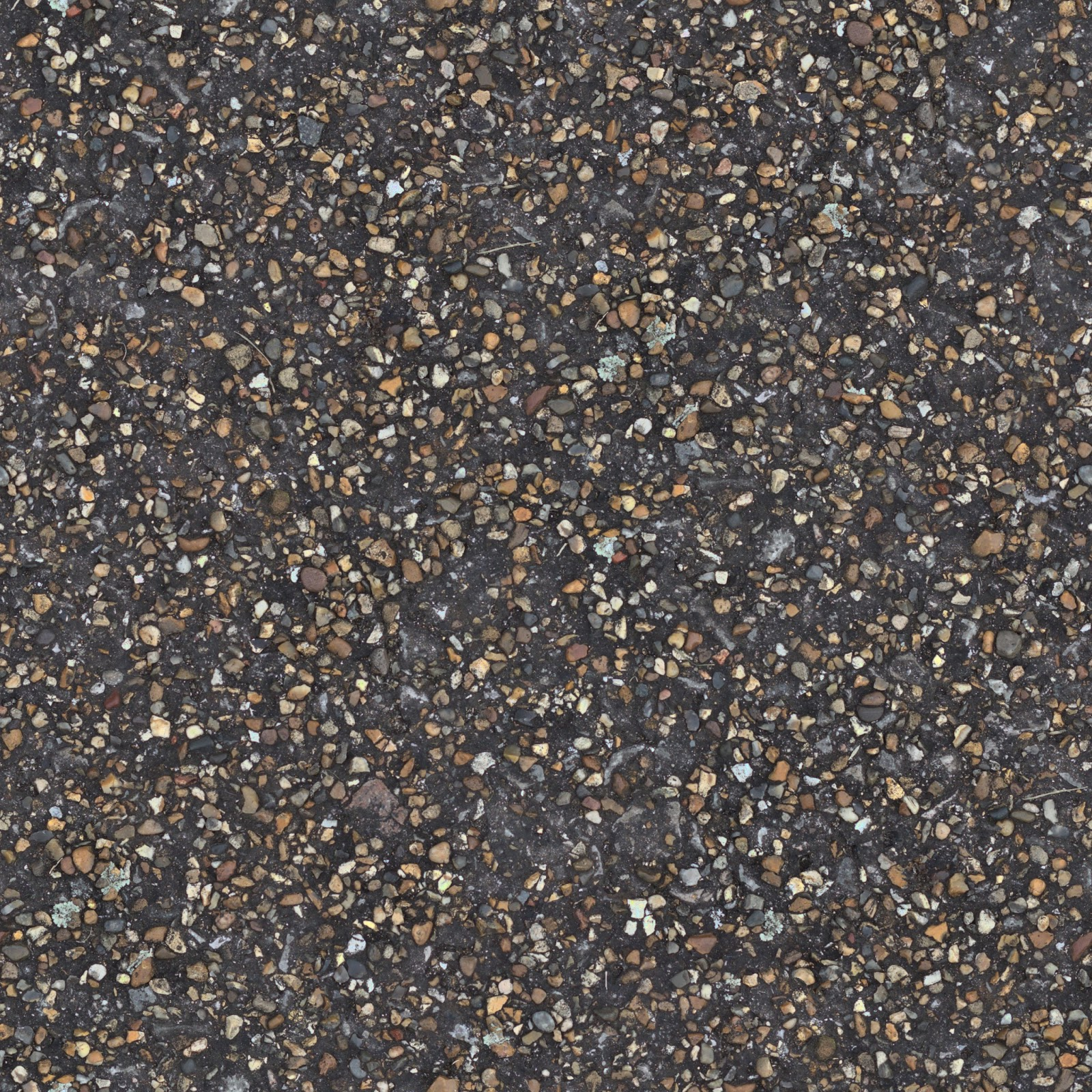 Seamless concrete pebble stone walkway texture