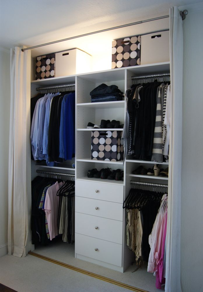 Professional organizer los altos Wardrobe in master bedroom
