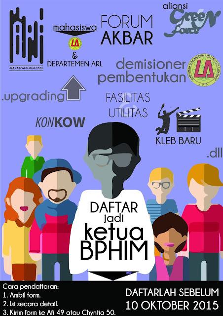 Pendaftaran Ketua BPHIM Periode 2015-2016