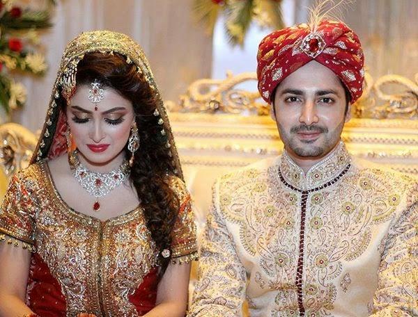Ayeza Khan Danish Tamoor Latest Wedding Images