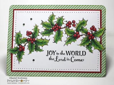 Power Poppy, Hollyberries, Digital Image, Christmas CherylQuilts, Designed by Cheryl Scrivens