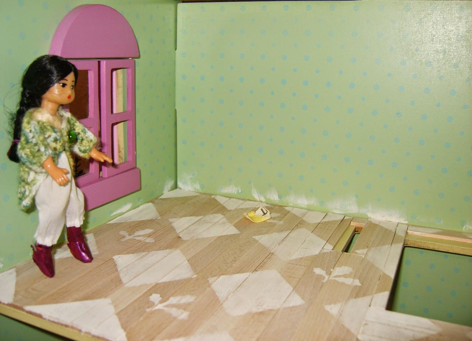 bilteman tikut, kuviomaalattu lattia