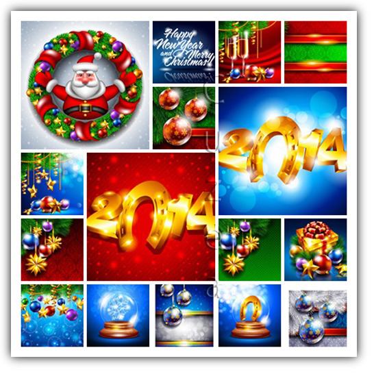 Merry christmas! Pack de Vectores Navideños Editables EPS.