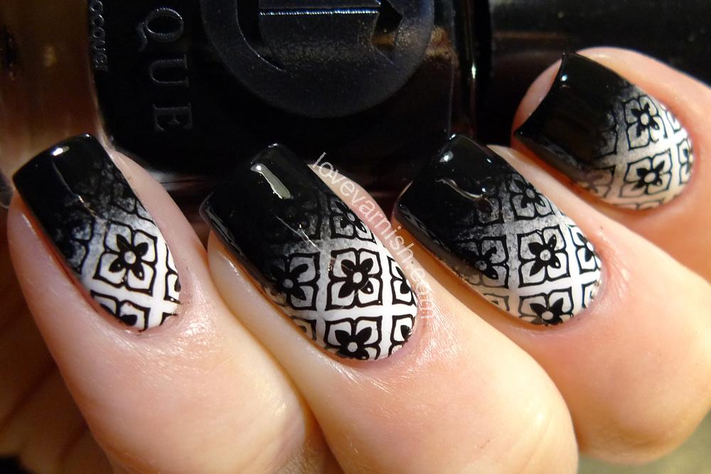 Love varnish nail art 40 great nail art ideas black white prinsesfo Choice Image