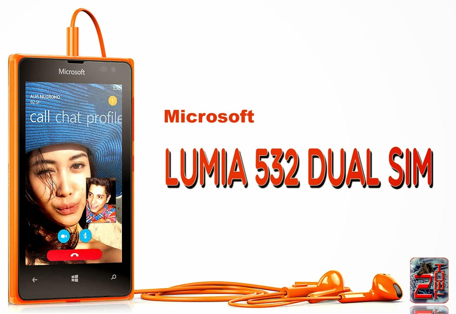 Microsoft Lumia 532 Dual SiM with 4 inch lcd displaym 5 mp rear camera, 8 GB internal storage, 1 GB RAM etc...