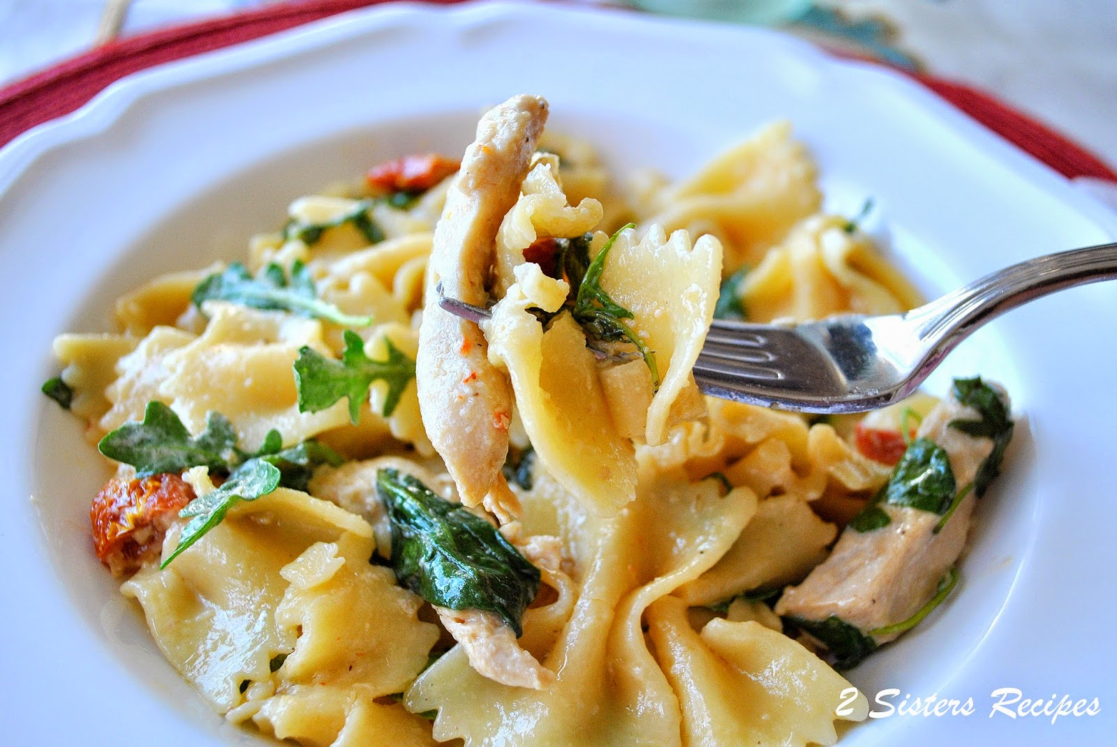 Farfalle with Chicken, Capers,