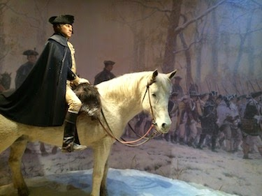 Chuck and Lori's Travel Blog - Washington at Valley Forge Display at Mount Vernon
