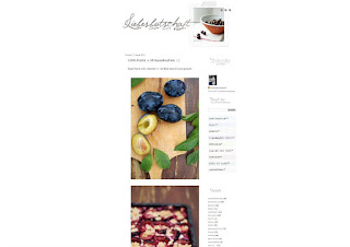 Pflaumenkuchen Blog Screenshot