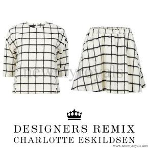 Queen Letizia Style Designers Remix Charlotte Eskildsen  Grid Check Top