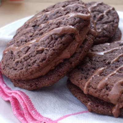 Chewy Chocolate Cream Sandwich Cookies