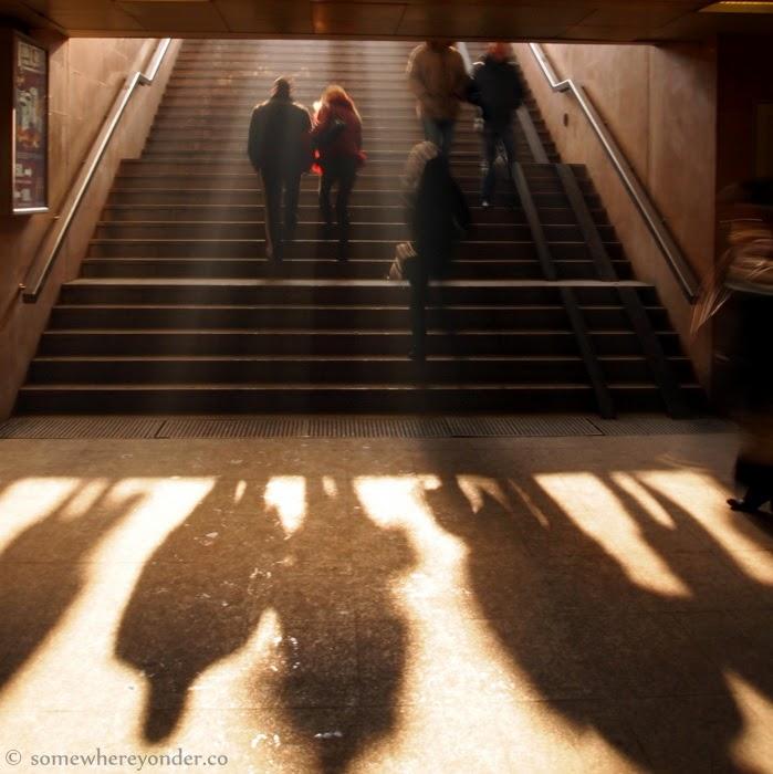 exiting an underground walkway - Sofia, Bulgaria