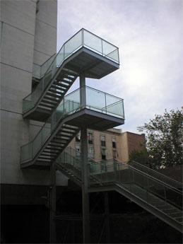 escalera metlica de emergencia para edificios o comerciales diversos