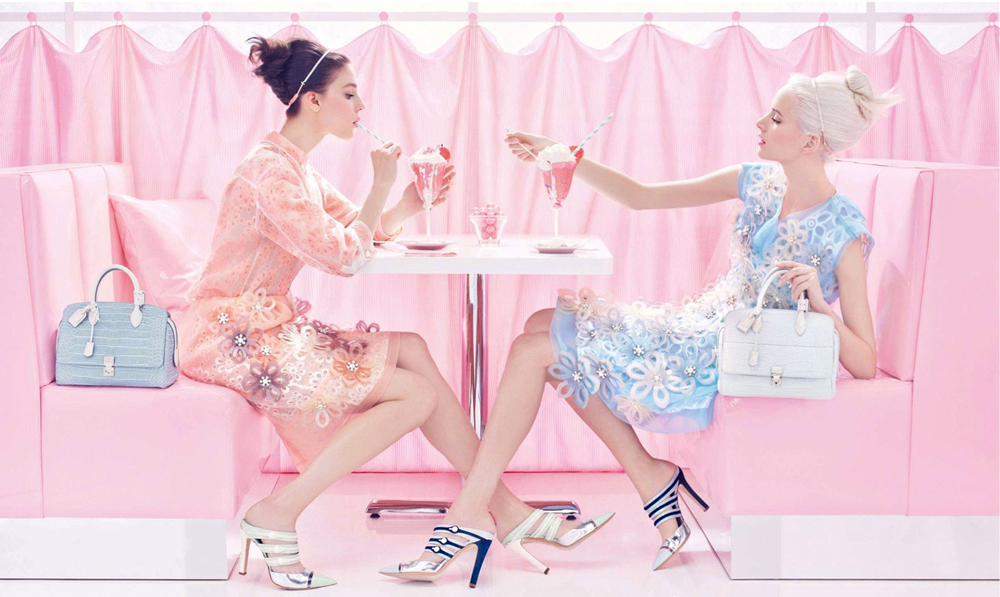 Kati Nescher & Daria Strokous photographed by Steven Meisel for Louis Vuitton Spring/Summer 2012 campaign via fashioned by love british fashion blog