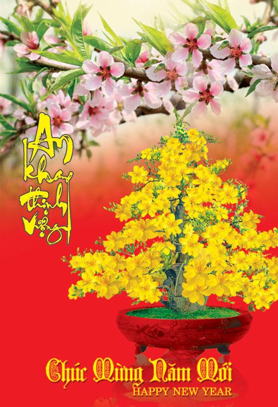Thiệp chúc mừng năm mới an khang thịnh vượng