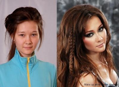increíble transformación de chica modelo