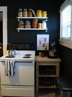 mylittlehousedesign.com kitchen painted black walls